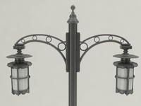 3d model outdoor lighting