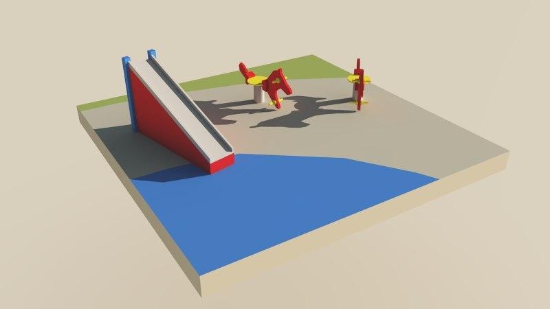 obj water playground