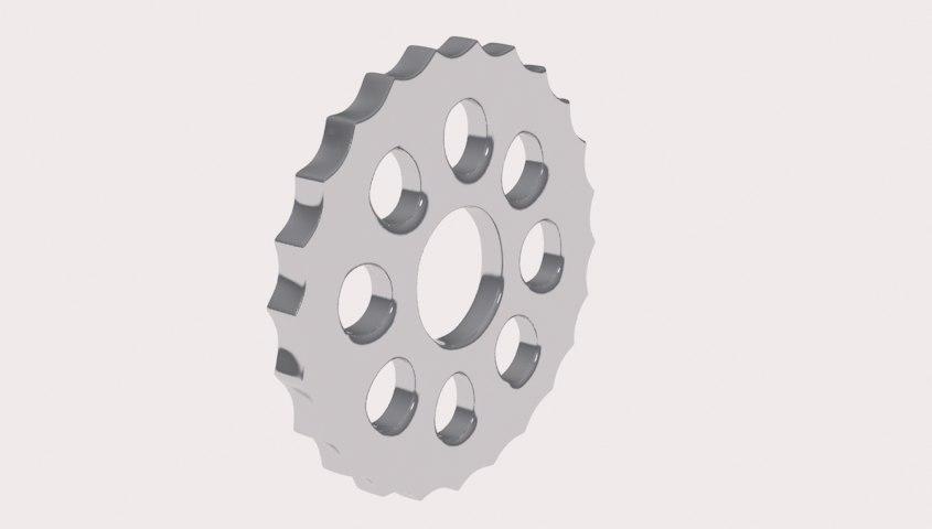 3ds max 24 teeth gear