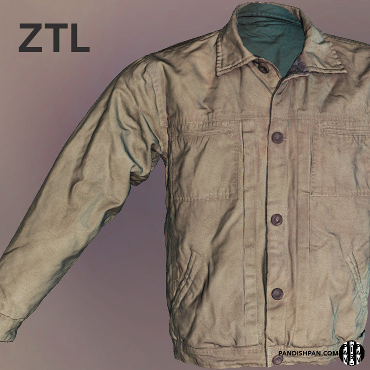 3d scan male jacket zbrush
