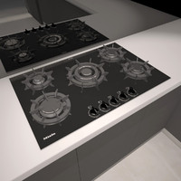 gas cooktop miele 3d model