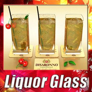 3d max liquor glass