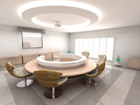 3d model of room meeting
