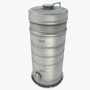3d model chemical storage tank