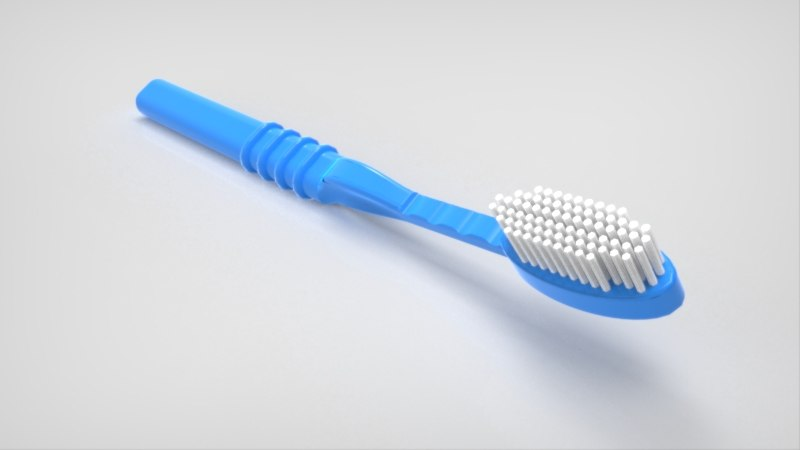 toothbrush solidworks dwg