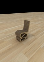 3d model wiggle chair