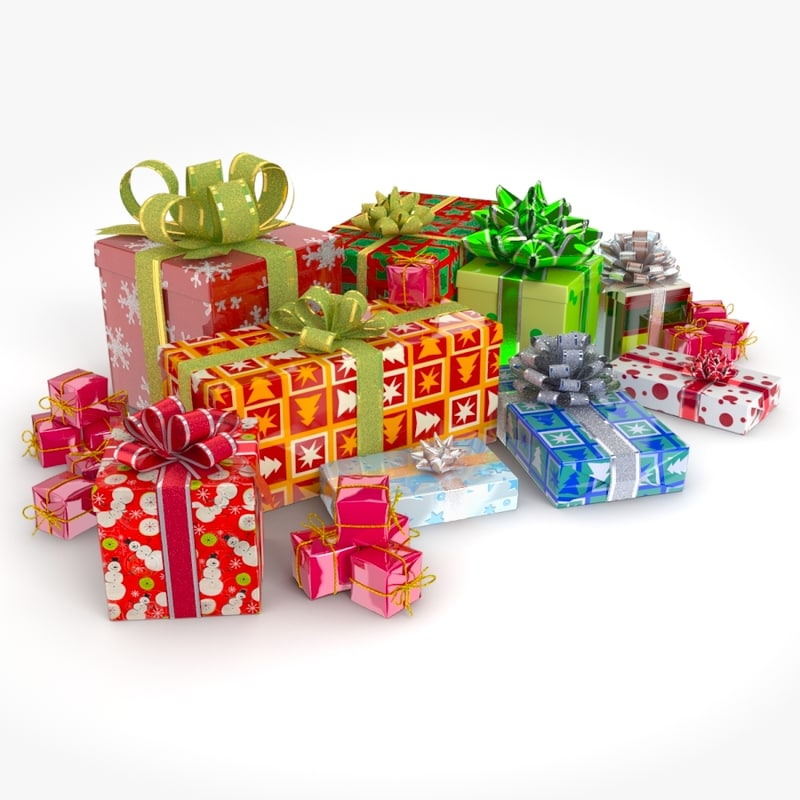 3ds max christmas presents