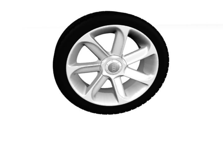 3d modelling audi wheel