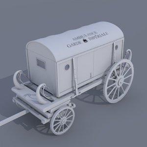 3d 17th ambulance carriage