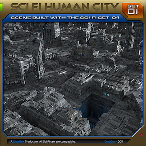 scenes cities 3d obj