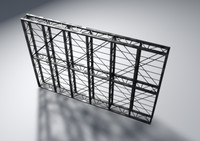 3d obj scaffolding wall
