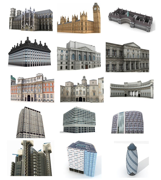 3ds max gherkin london bridge building
