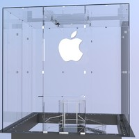 3dsmax glass cube entrance apple