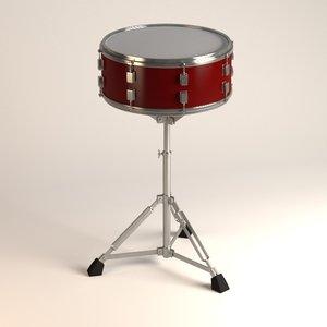 snare drum 3d fbx