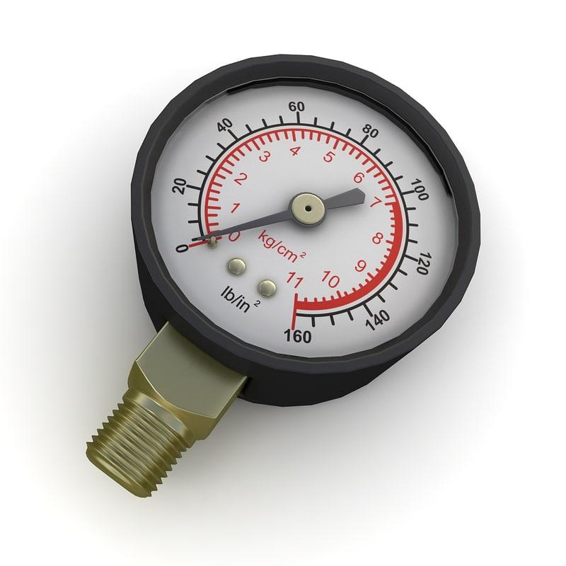 pressure gauge max