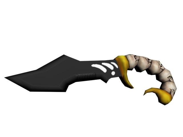 3d scorpio knife model