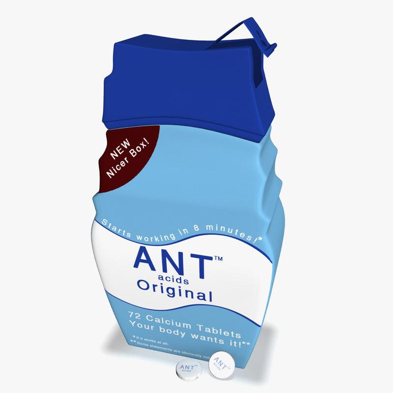 3d antacid medicine bottle