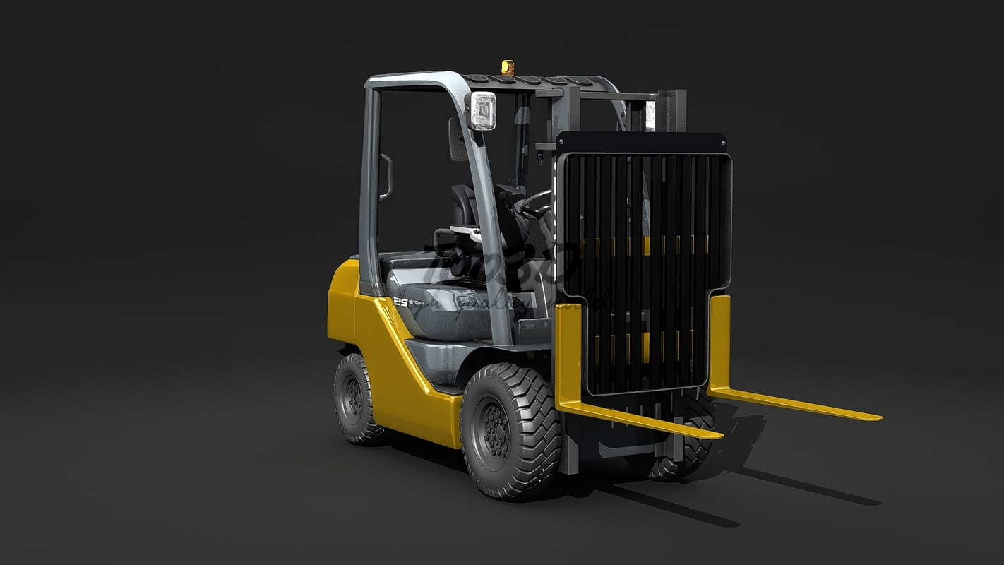 3d model of forklift toyota