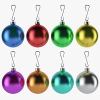 christmas balls 3d model
