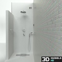 bathroom shower 3d model