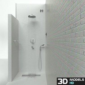 bathroom shower 3d model