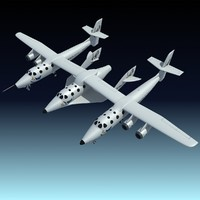 scaled composites white knight 3d model