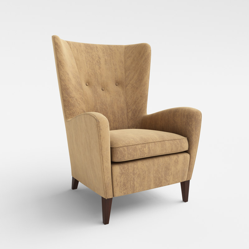 3ds max seville 750 wing armchair