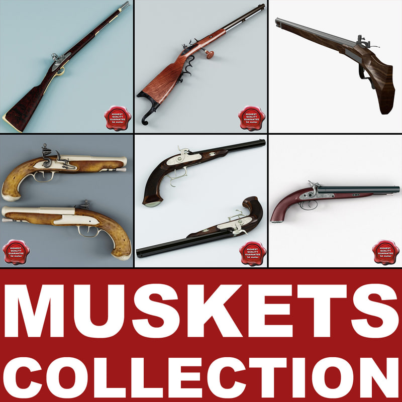 old muskets v5 3d model