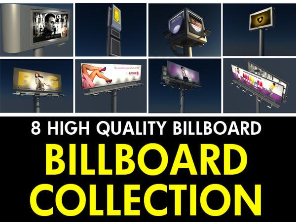 3d 8 billboard 2 model
