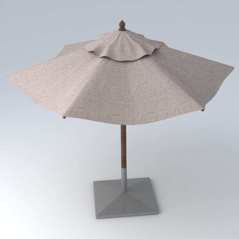 3dsmax umbrella materials