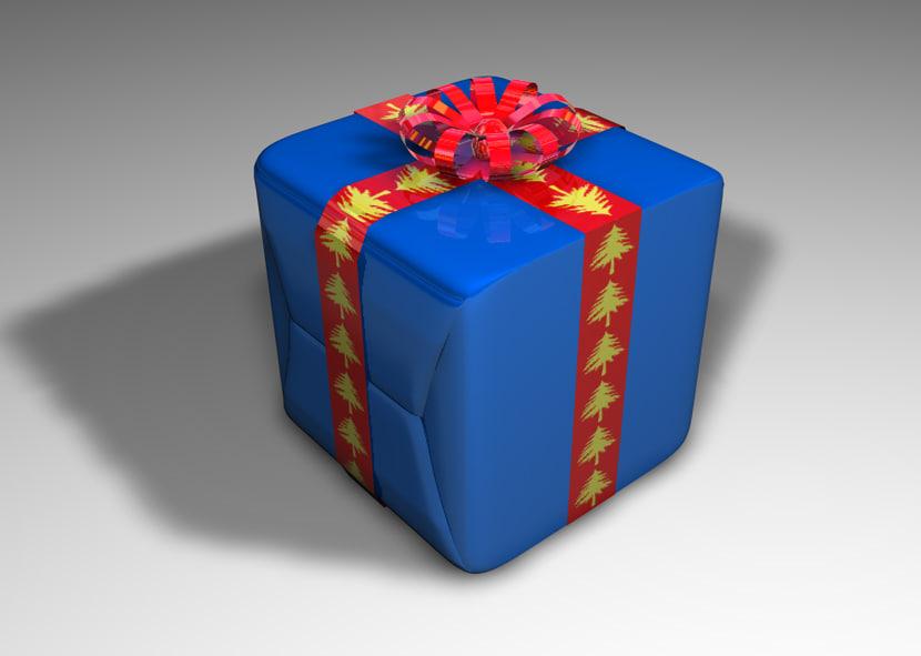 free christmas birthday gift 3d model
