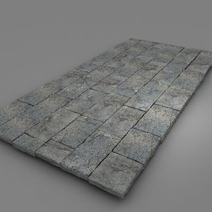 big stone blocks 3d model