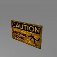 metal sign