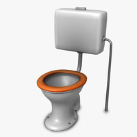 3d toilet real time