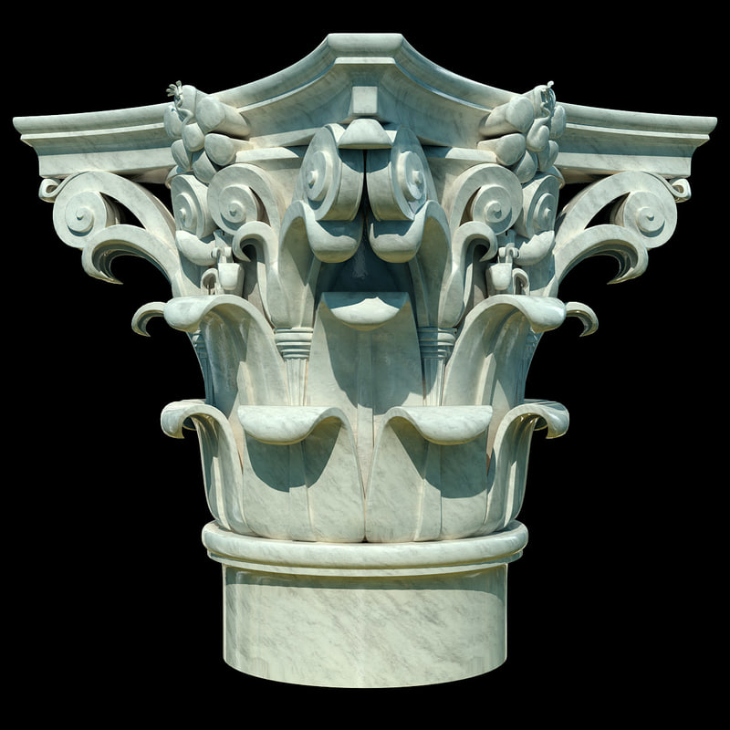 3d column corinthian capital