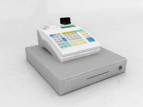 3d casio cashier cash register