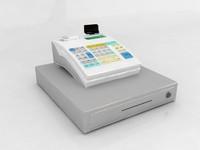 casio cashier cash register 3d model