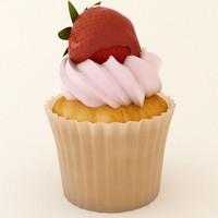 3d model cupcake 09