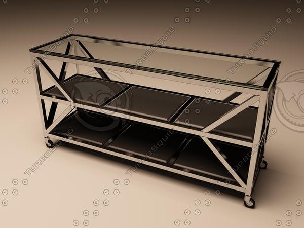 eichholtz table console prado 3d 3ds