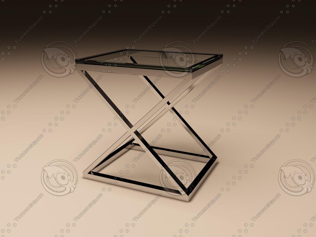 eichholtz table criss cross 3d 3ds