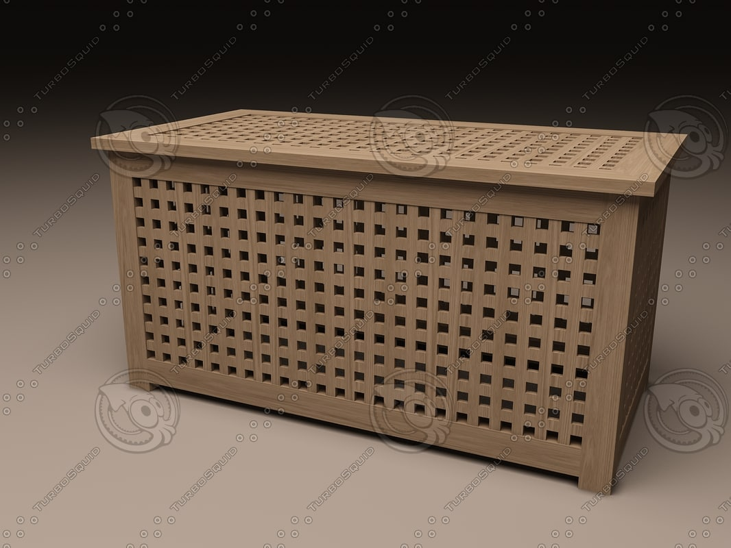 Ikea Hol Storage Table 3d Model