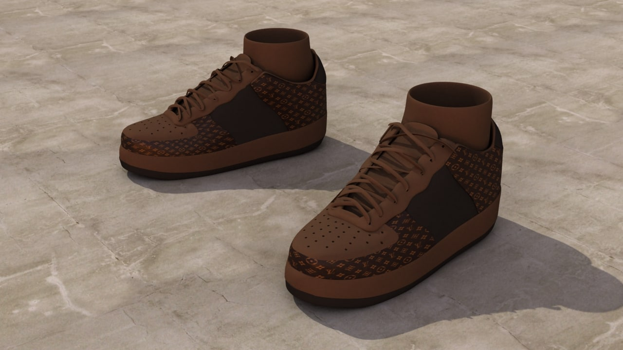 sneakers studio v-ray 3d obj