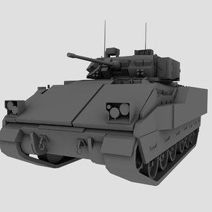 m2 m3 bradley 3d model