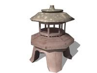3d pagoda statue