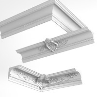 Petergof t261 k143 Baroque Plaster Ceiling Wall Cornice
