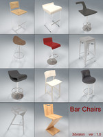 3d max bar chairs