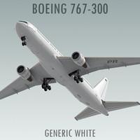 Boeing 767-300 Generic White