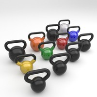 3ds max kettlebell set weight exercises