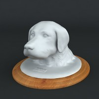 3d Printable sculpture - The Portrait - stl collada dae