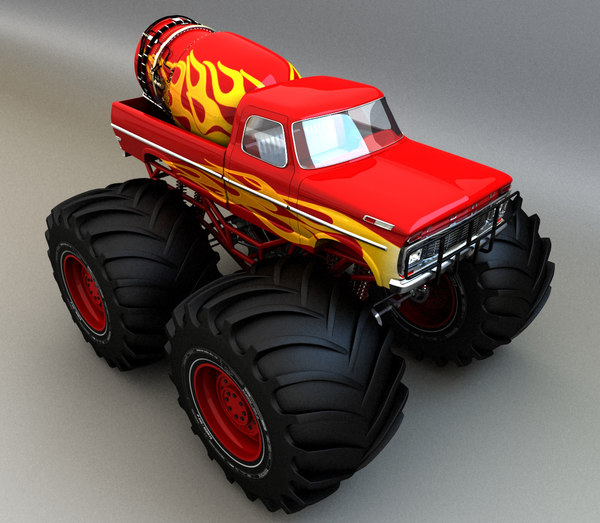 monster car 3d model